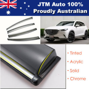 INJ Chrome Weather Shield Weathershield Window Visor for Mazda CX9 2016+