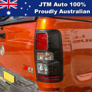 MATT Black Tail Light Cover Trim to suit Holden Colorado 2012-2019