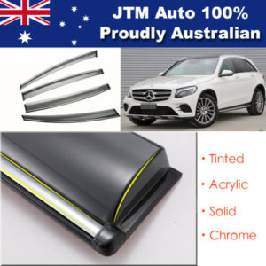 INJ Chrome Weather Shield Weathershield Window Visor For Mercedes Benz GLC 2015+