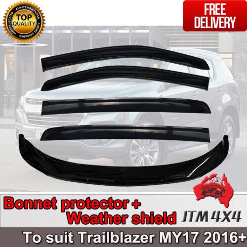 Bonnet Protector Guard + Weather Shields Visor to suit Holden Trailblazer 2016+