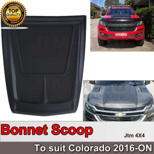 Matt Black Bonnet Scoop Hood Cover to suit Holden Colorado 2016+
