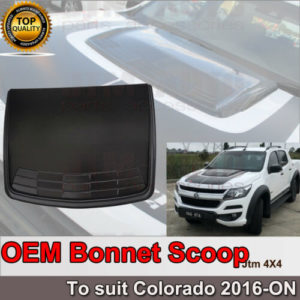 OEM Matt Black Bonnet Scoop Hood Cover to suit Holden Colorado 2016+