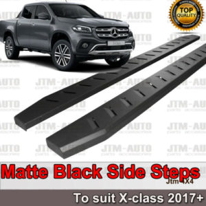 Heavy Duty Steel Black Off road Side Steps suit Mercedes-Benz X-class 2018+