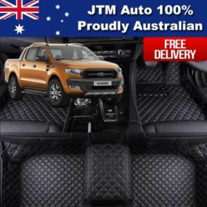 Custom Made Ford Ranger PX PX2 3D Floor Mats PU Leather Front + Rear 2012-2018