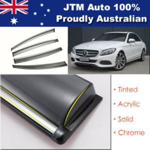 INJ Chrome Weathershield Window Visor For Mercedes C Class Sedan 2014-2019 W205
