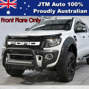 Black Fender Flare Wheel Arch Pocket Style for Ford Ranger 2012-2015 Front Only