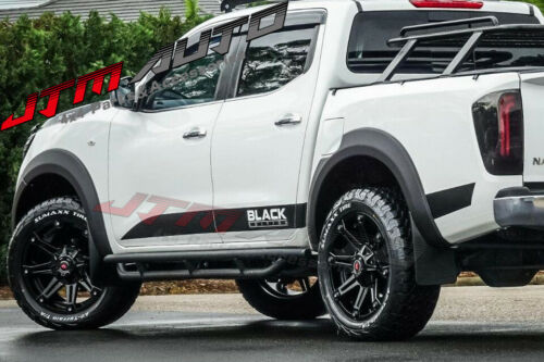 Heavy Duty Armor Black Off road Side Steps to suit Nissan Navara NP300 D23 15-21