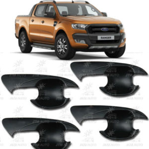 MATT Black Handle Bowl Cover Protectors Suits Ford Ranger PX PX2 2012-2018