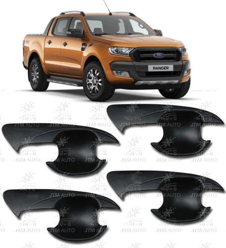MATT Black Handle Bowl Cover Protectors Suits Ford Ranger PX PX2 2012-2018