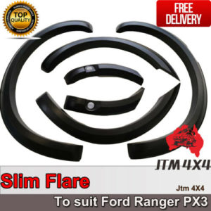 Slim Fender Flares Black Guard Trim Fits To Ford Ranger PX3 2018-2020
