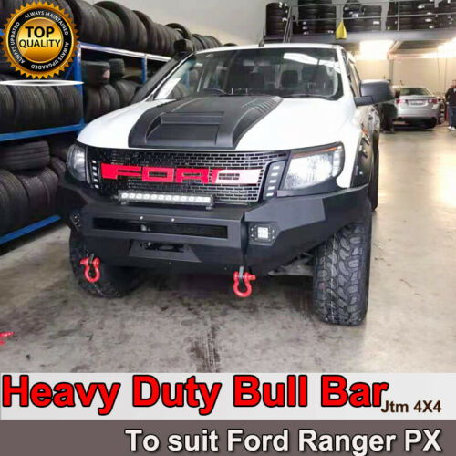 Heavy Duty Steel Bull Bar Winch Compatible to suit Ford Ranger PX1 2011-2015