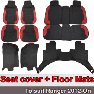 Custom Fits Waterproof Seat Covers + Floor Mats for Ford Ranger 2012-2020