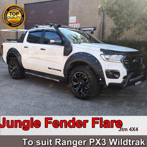 Jungle Black Fender Flares Wheel Arch to suit Ford Ranger PX3 Wildtrak 2018-2021