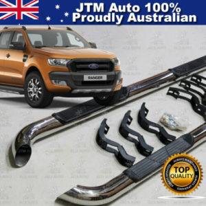 """Running Boards Side Steps 3"""" Stainless Steel to suit Ford Ranger PX2 2015-2020"""