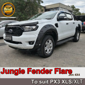 Jungle Black Fender Flares Wheel Arch to suit Ford Ranger PX3 XLS/XLT 2018-2021