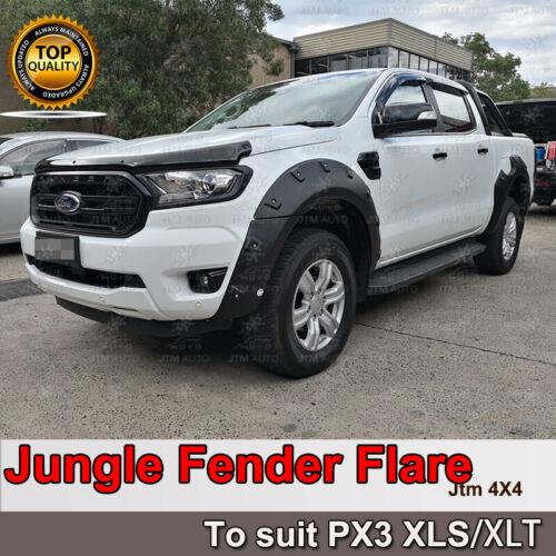 Jungle Black Fender Flares Wheel Arch to suit Ford Ranger PX3 XLS/XLT 2018-2021