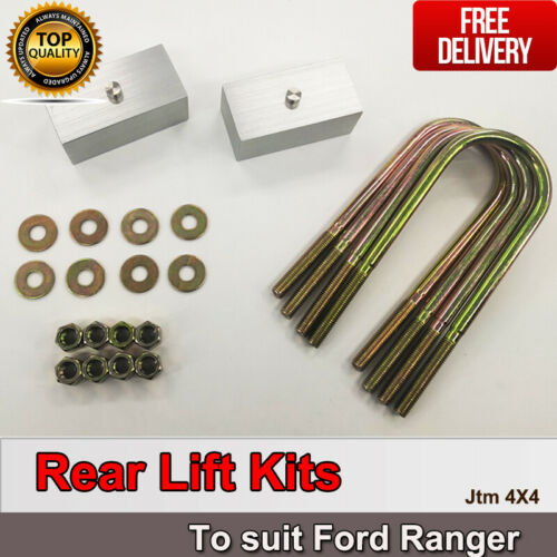 """Lift Up 2"""" Rear Suspension Block Spacer Lift Kit suit Ford Ranger PX 2012-2018"""