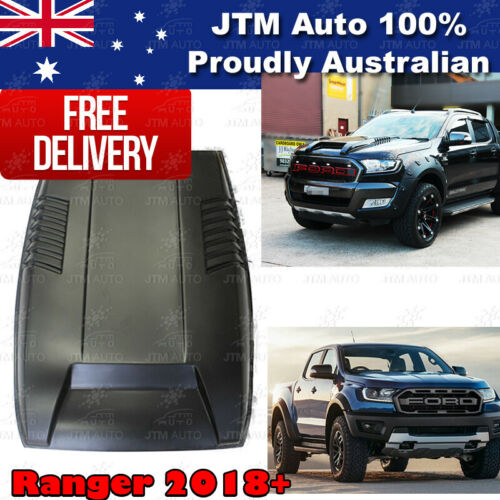 Matt Black Bonnet Scoop Hood Raptor Style to suit Ford Ranger PX3 T8 2018-2021