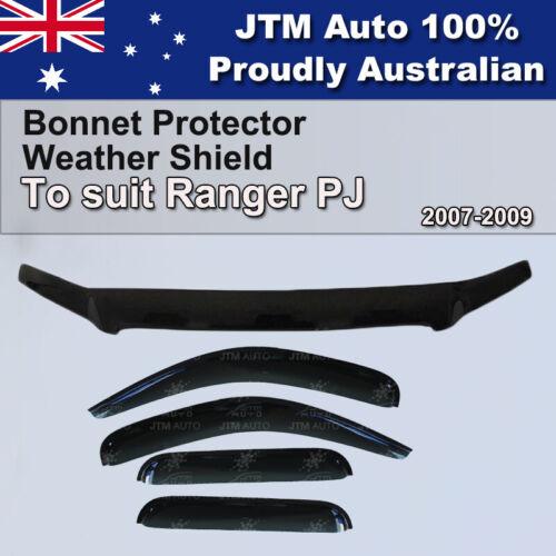 Bonnet Protector + Window Visor Weather shields to suit Ford Ranger PJ 2007-2009