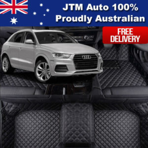 Custom Made to suit Audi Q3 Leather Floor Mats Front + Rear 2012-2017