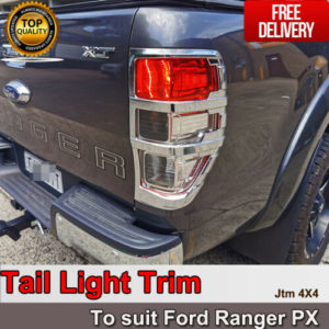 Suits Ford Ranger PX PX2 PX3 Chrome Tail Light Trim Cover 2012-2020