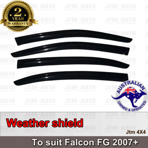 Premium Weather Shields Weathershields Window Visor For Ford Falcon FG 2008-2019