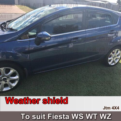 Weathershields Weather Shields Window Visor for Ford Fiesta WS WT WZ 2009-2019