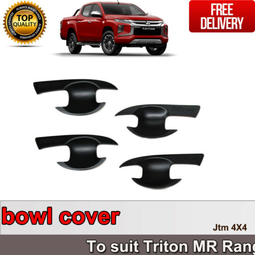 MATT Black Door Cover Protector For Mitsubishi Triton MR 2018+