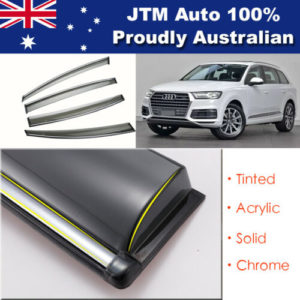 INJ Chrome Weather Shield Weathershield Window Visors to suit Audi Q7 2016-2018