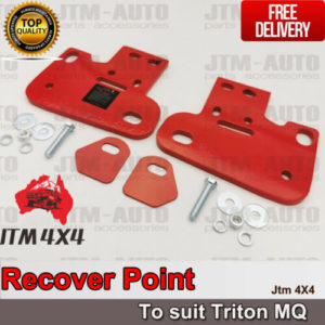 Recovery Tow Point Kit 12mm 5 Tonne & Hitch for Mitsubishi Triton MQ 2015-2018