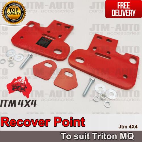 Recovery Tow Point Kit 5 Tonne & Hitch for Mitsubishi Triton MQ 2015-2018