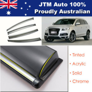 INJ Chrome Weather Shield Weathershield Window Visors to suit Audi Q7 2006-2015