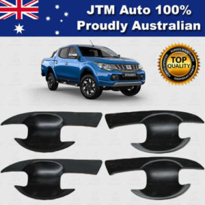 MATT Black Door Bowl Cover Protector Suits to Mitsubishi Triton MQ 2014 - 2019