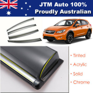 INJ Chrome Weather Shields Weathershields Window Visors for Subaru XV 2012-2017