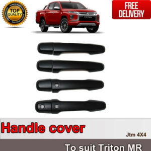 MATT Black Door Handle Cover Protector For Mitsubishi Triton MR 2018+