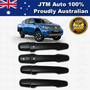 MATT Black Door Handle Cover Protector For Mitsubishi Triton MQ MR 2015-2021