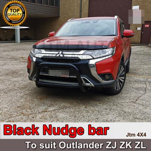 Black Steel Nudge Bar Grille Guard For Mitsubishi Outlander ZJ ZK 2013-2020