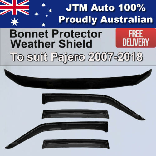 Bonnet Protector + Weather shield To Suit Mitsubishi Pajero NS NX 2007-2021