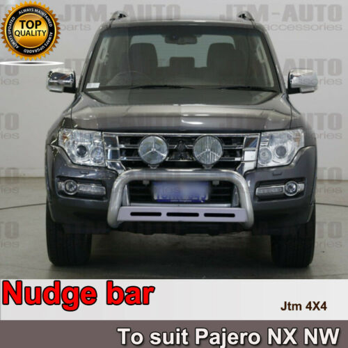 """Nudge Bar 3"""" Stainless Steel to suit Mitsubishi Pajero NX NW 2012-2021"""