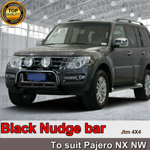 "Nudge Bar 3"" Black Steel to suit Mitsubishi Pajero NX NW 2012-2021"