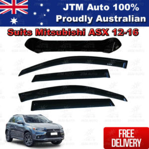 Bonnet Protector + Weather shields Visors to suit Mitsubishi ASX 2012-2016