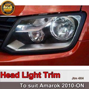 MATT Black Head Light Trim Cover to suit Volkswagen VW Amarok 2010-2021