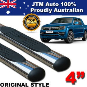 "4"" Oval Stainless Steel Side Steps to suit Volkswagen VW Amarok 2010-2020"