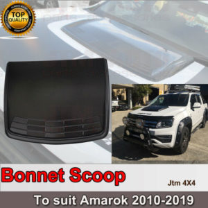 Matt Black Bonnet Scoop Hood Cover to suit VW Volkswagen Amarok 2010-2021