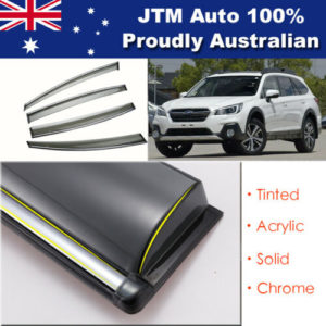 IJ Chrome Weather Shield Weathershield Window Visor For Subaru Outback 2015-2020