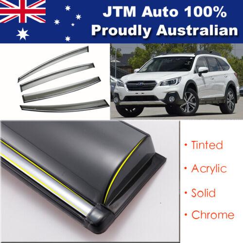 IJ Chrome Weather Shield Weathershield Window Visor For Subaru Outback 2015-2020
