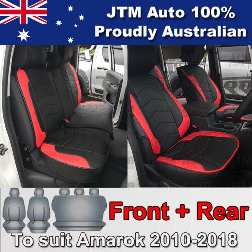PREMIUM Red PU leather Waterproof Seat Covers for Volkswagen Amarok 2010-2018