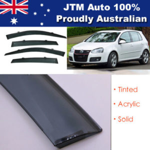 INJ Chrome Weather Shield Weathershield Window Visor for VW Golf MK5 2003-2008