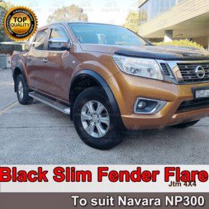 Matt Black Slim Fender Flare Wheel Arch to suit Nissan Navara NP300 2014-2019