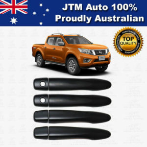 MATT Black Door Handle Cover Protector For Nissan Navara NP300 D23 2014-2021